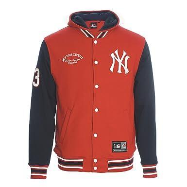 Chaqueta Majestic: Refete Letterman New York Yankees RD/BL L ...