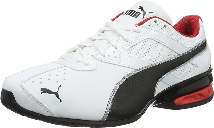 Puma Tazon 6 FM Sneakers Laufschuhe Herren Weiß/Rot/Schwarz