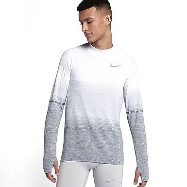 98898da0 Nike Dri-FIT Knit Men's Long-Sleeve Running Top (X-Large, Pure  Platinum/Wolf Grey/Dark Grey) at Amazon Men's Clothing store: Skateboarding  Shoes