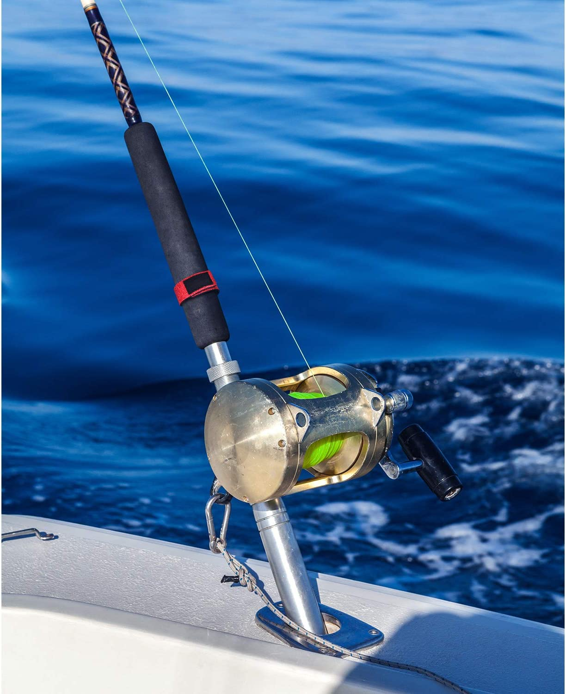 Gejoy 20 Correa de Ca/ña de Pesca Lazo Banda Estirable Soporte de Correas de Varilla Giratoria de Fundici/ón para Aparejo de Pesca Lazo Accesorios de Bolsa