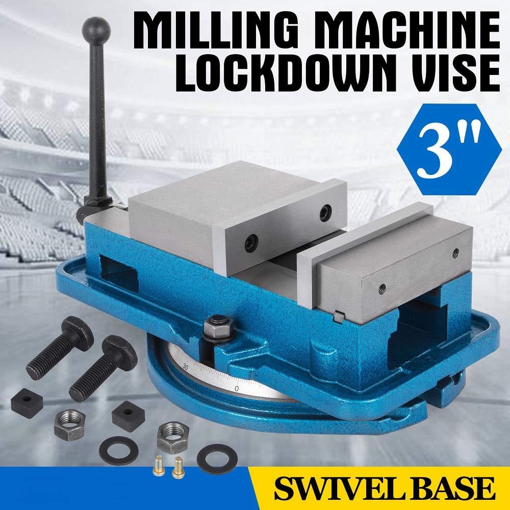 """5/"""" Milling Machine Lockdown Vise Hardened 360 Degree Swiveling Base"""