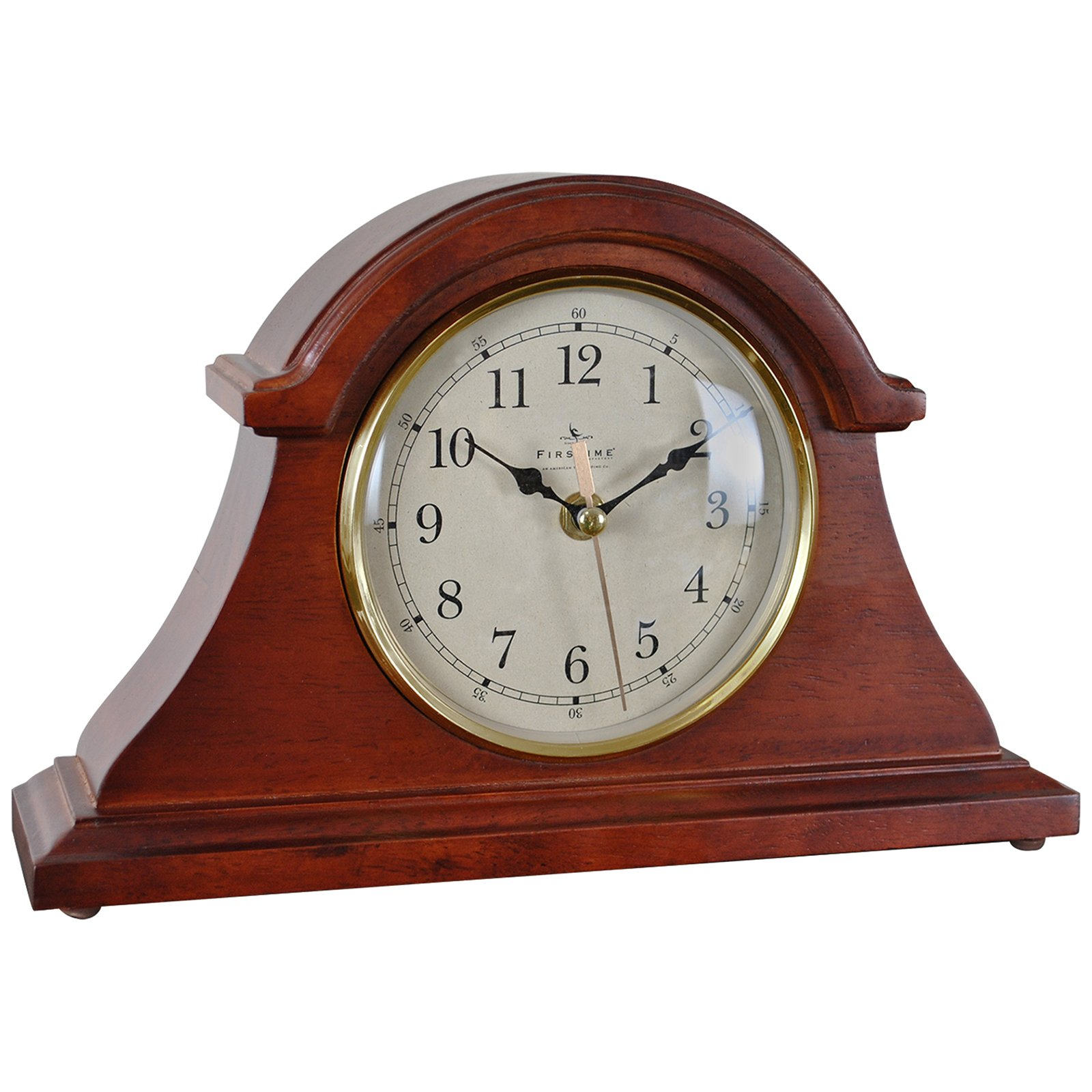 FirsTime Brownstone Napoleon Tabletop Clock by FirsTime