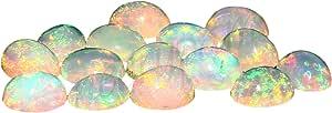 Natural Blanco welo fuego calidad AAA ópalo etíope de 4X3 mm de forma oval cabujón calibrado tamaño de la piedra preciosa floja | Natural de Etiopía welo ópalo para la fabricación de joyas