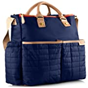 Diaper Bag, Nappy Bag by Maman - with Matching Changing Pad - Stylish Designer Tote for Moms - for Baby Boys and Girls - PATENT PENDING