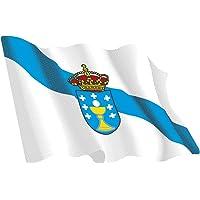 Artimagen Pegatina Bandera Ondeante Galicia 65x45 mm.