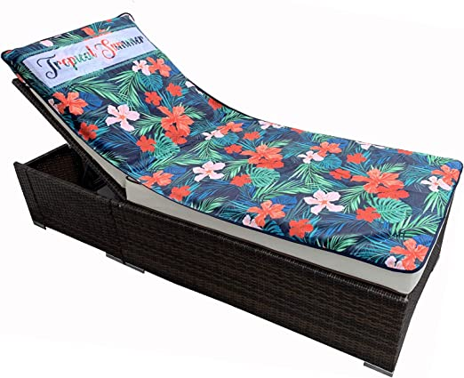 HOMELEVEL - Funda protectora para tumbona de jardín estampada 75 cm x 200 cm, funda de rizo, Tropical Summer.: Amazon.es: Hogar