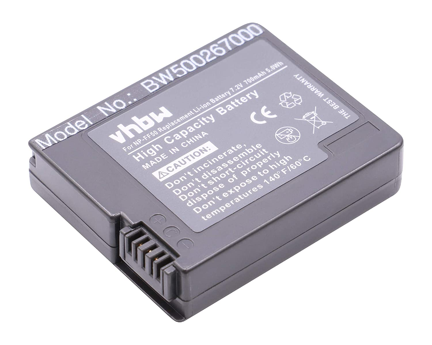 BATER/ÍA LI-Ion 700mAh 7.2 V Compatible con Sony sustituye Sony NP-FF50 NP-FF51