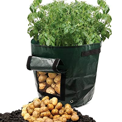 "Smartcoco Potato Planting Bags Cultivation Garden Pots Planters Vegetable Planting PE Bags Grow Bags for Farm Home Garden Supplies, 13.4"" x 13.8"" : Garden & Outdoor"