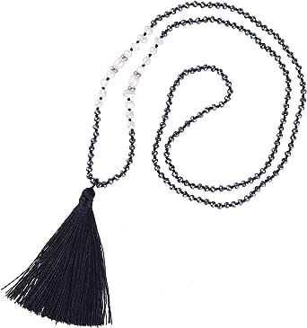 KELITCH Nuevo collar de perlas de borla de las mujeres collar de perlas de cristal babero brillante collar en forma de Y collar 2020