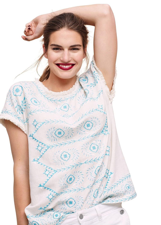 Violeta By Mango Women's Plus Size Wool Cotton-Blend Blouse