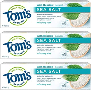 product image for Tom's of Maine Sea Salt Natural Toothpaste, Whitening Toothpaste, Natural Toothpaste, Refreshing, 3-Pack Mint