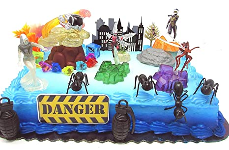 Amazon ANT MAN Deluxe Birthday Cake Topper Set Featuring Ant