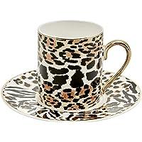 Karaca Running Leopar 4 Kişilik Kahve Fincanı