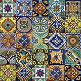"400 Mexican Talavera 4""x 4"" ceramic tile Mix"