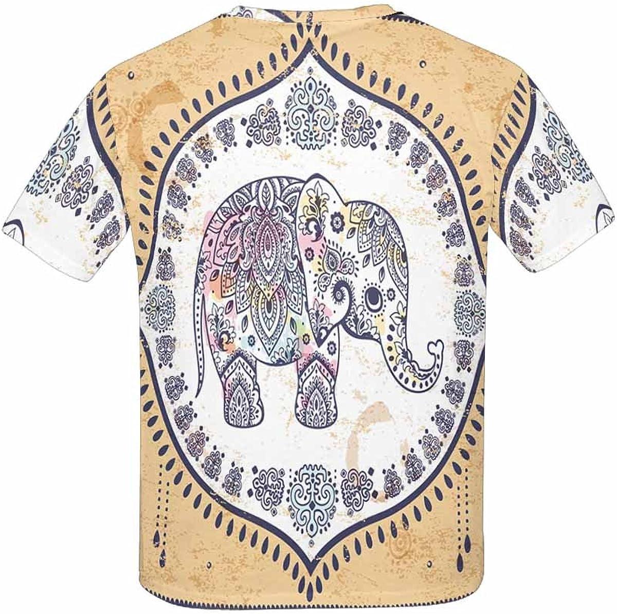 BlountDecor Unisex T-Shirt,Tropical  Riverside Fashion Personality Customization