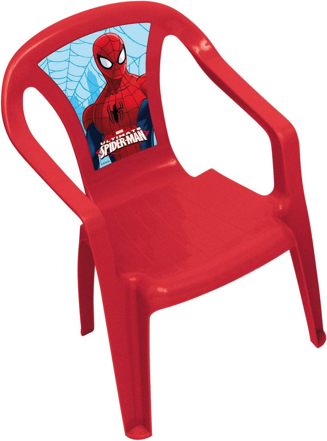 ARDITEX SM7976 - Silla plástico Monoblock, diseño Spiderman