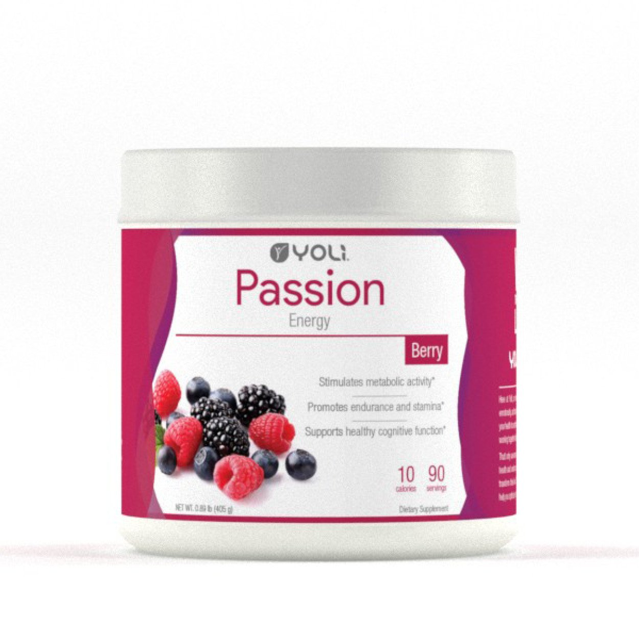 Yoli Passion Energy Drink - Sugar Free - Sweetwened with Stevia - Long Lasting Healthy Energy Without Jitters (Canister, Berry) by YOLI® (Image #1)
