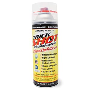 Trick Shot Penetrating Lubricant | Non-Toxic, Eco-Friendly Penetrating Oil with Straight-Shooter Nozzle | Industrial Strength Rust Penetrating Spray Lubricates, Protects & Cleans | 11-Ounces, 1 Can