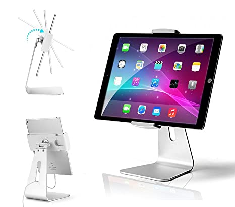 AboveTEK Elegant Tablet Stand, Aluminum iPad Stand Holder, Desktop Kiosk  POS Stand for 7-13 inch iPad Pro Air Mini Galaxy Tab Nexus, Tablet Mount  for