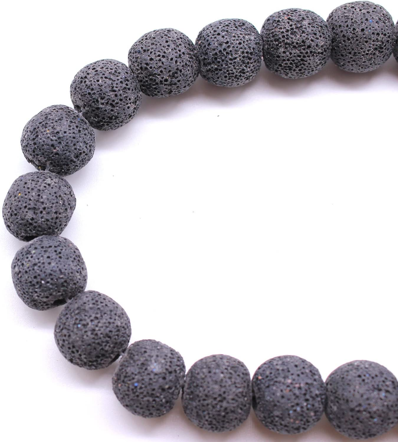 Natural Stone Volcano Lava Round Loose Beads For DIY Jewelry Makings 8MM Vy