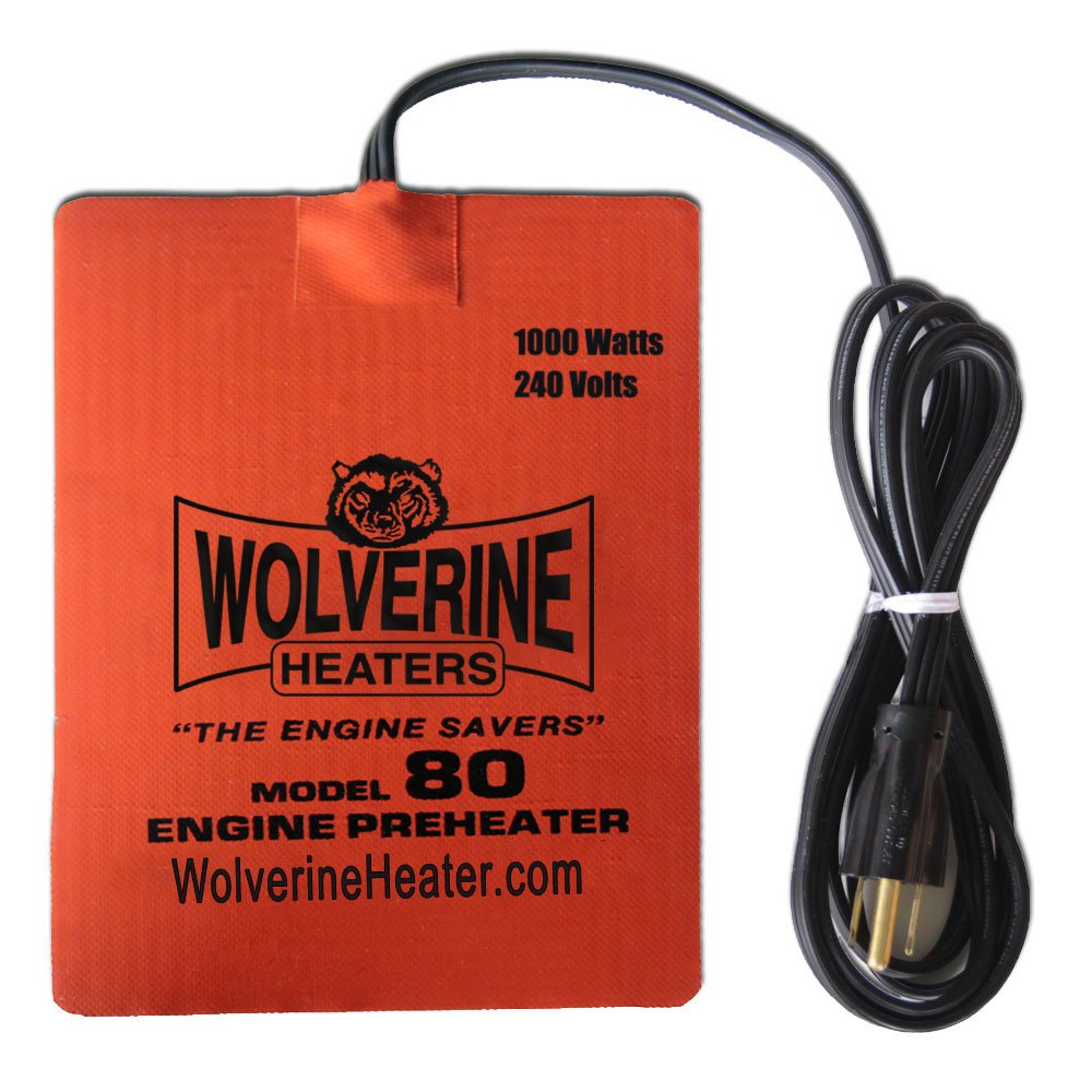 Wolverine Heaters - Model 80 - 1000 Watts - Engine Oil, Reservoir, Biofuel and Hydraulic Fluid Heater - 240 Volts by Wolverine Heaters