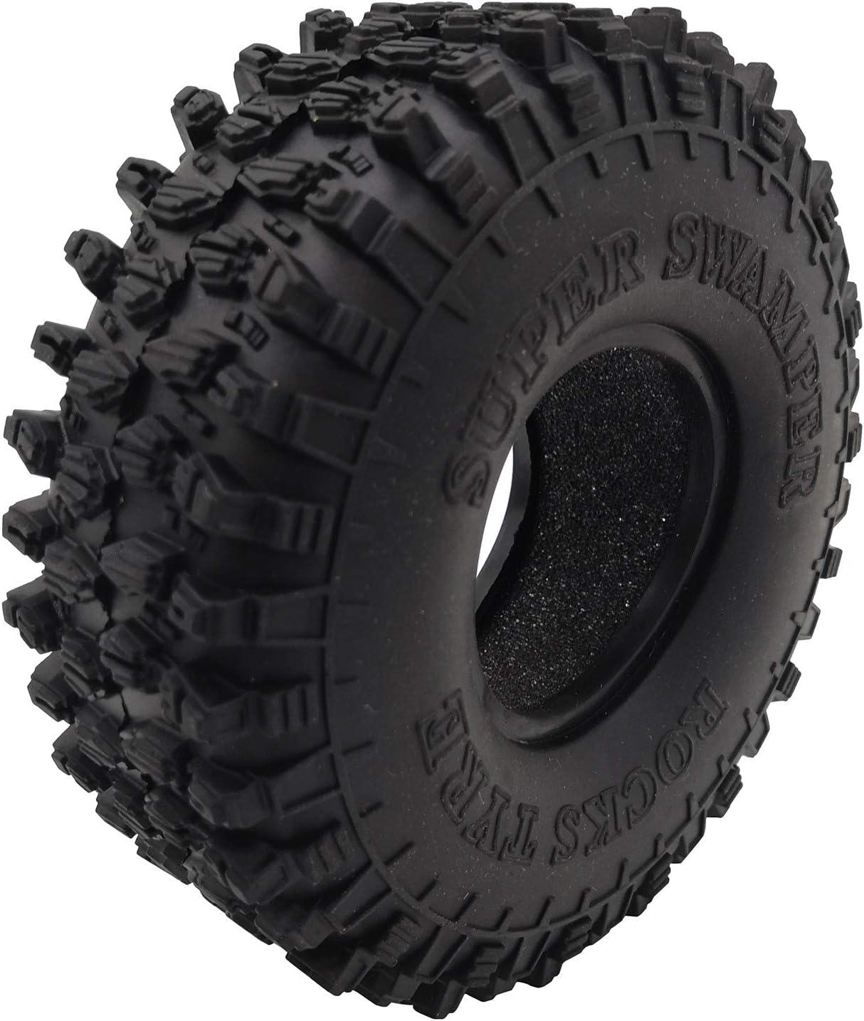 LQNB 4 St/üCke 120MM 1.9 Rubber Rocks Reifen Rad Reifen f/ür 1//10 RC Crawler Axial SCX10 90046 AXI03007 TRX4 D90 TF2