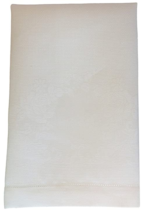 Thomas Ferguson lino irlandés – lino grueso turco toalla con diseño de rosas