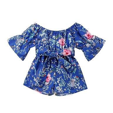 14886439013b9 Amazon.com: Clothful 💓 Infant Toddler Baby Girls Off Shoulder ...