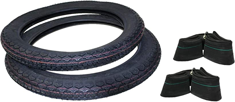 Reifensatz 2x Reifen Inkl 2x Schlauch 2 75 17 Für Kreidler Hercules Prima Gt 25 50 Mofa Moped Mokick Auto