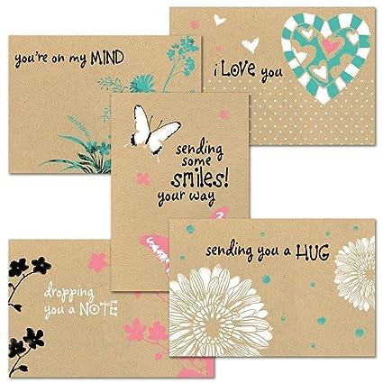 Amazon thinking of you kraft greeting card value pack set of thinking of you kraft greeting card value pack set of 20 5 designs m4hsunfo
