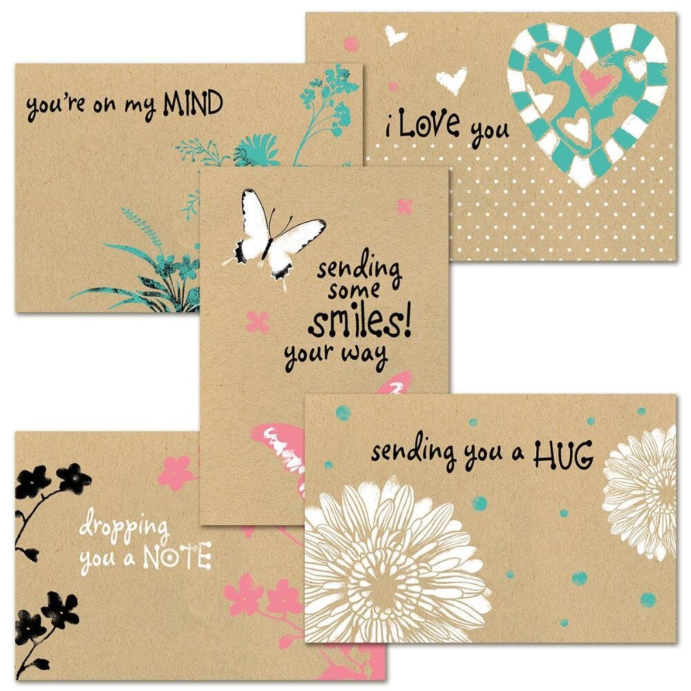 Amazon 36 Assorted Pack Thinking Of You Note Cards Bulk Box