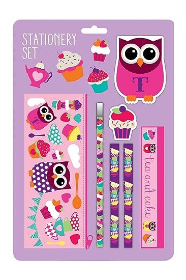 amazon com give a hoot owl tea party stationery set health