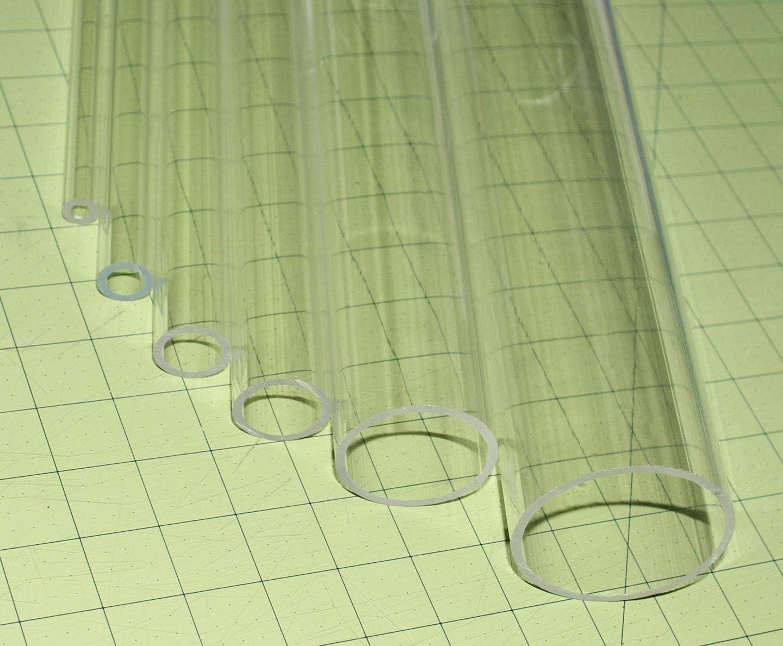 "RTR/_SJHTRA 1 Pieces of Clear Acrylic PLEXIGLASS Tube 19mm 3//4 OD x 1//2 ID Diameter 12/"" Long"