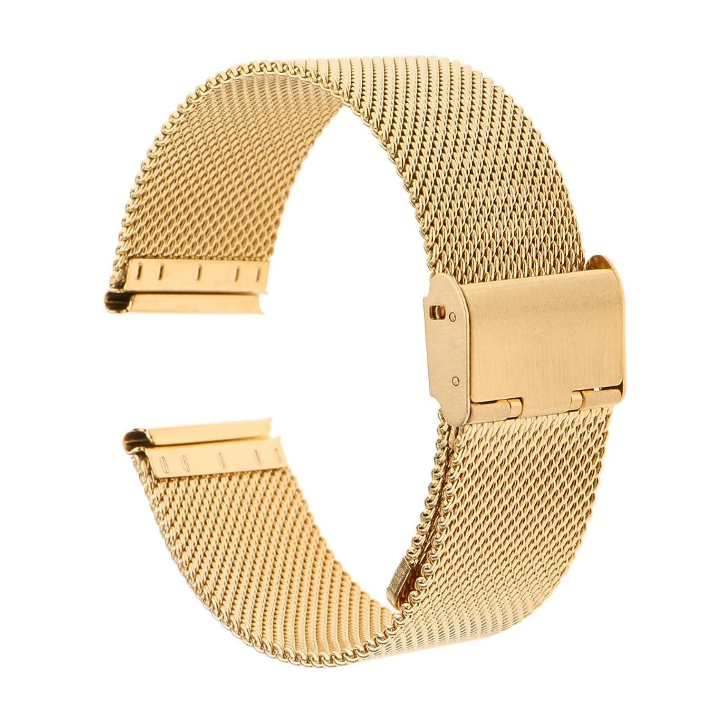 monkeyjackステンレススチールMilanese腕時計バンドストラップ16 mm 18 mm 20 mm 22 mm 24 mm Black 18mm B078JXK9KW