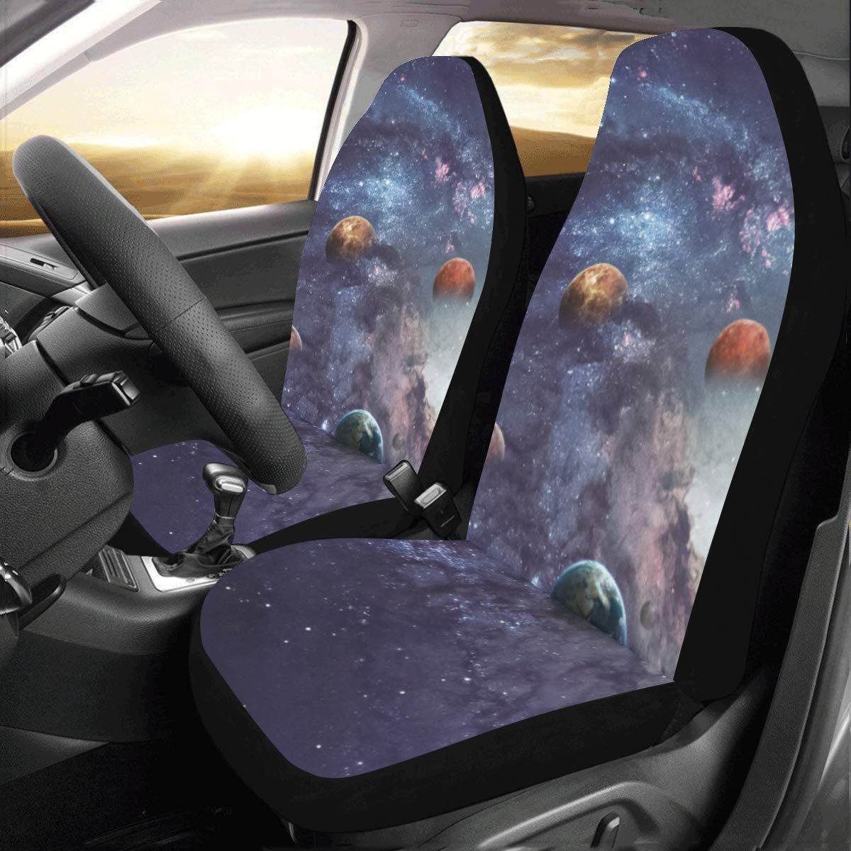 Peachy Amazon Com Interestprint Solar System Car Seat Covers Caraccident5 Cool Chair Designs And Ideas Caraccident5Info