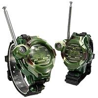 2pcs 7 en 1 niños de los relojes walkie talkie infantiles para niños Juego de exterior Interphone