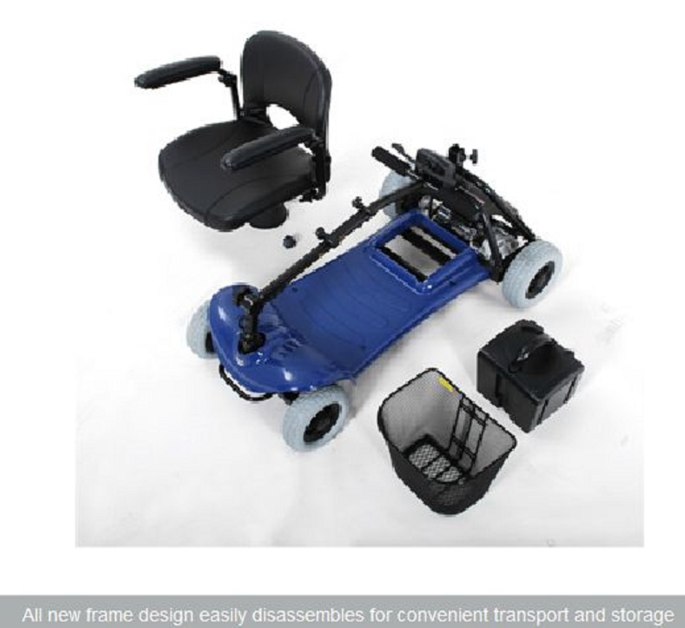 Merits Health Products - Roadster - 4-Wheel Scooter - 15''W x 15''D - Blue by Roadster (Image #2)