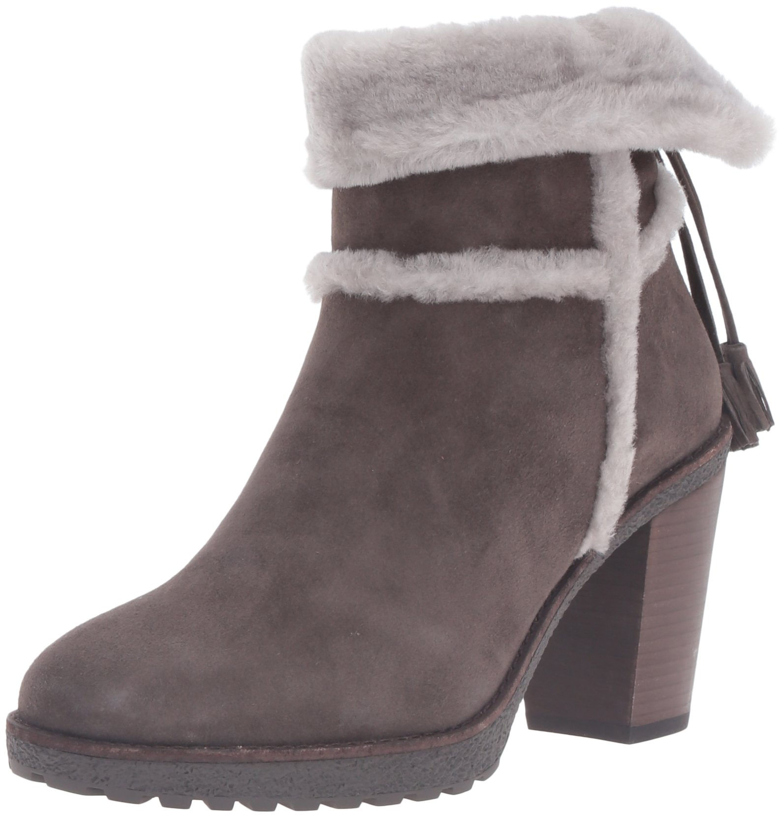 FRYE Women's Jen Shearling Short Winter Boot, Smoke, 7.5 M US