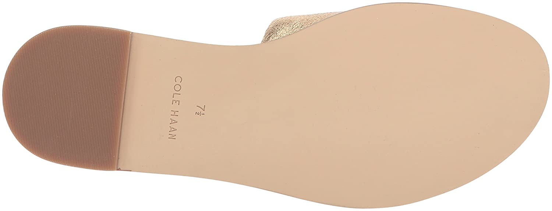 Cole Haan Women's Anica Slide Sandal B073SQ351M 6.5 B(M) US|Gold/Metallic