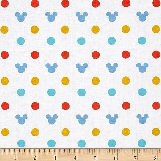 Mickey Ears Multi Fabric By The Yard Disney Mickey Nursery Oh Boy