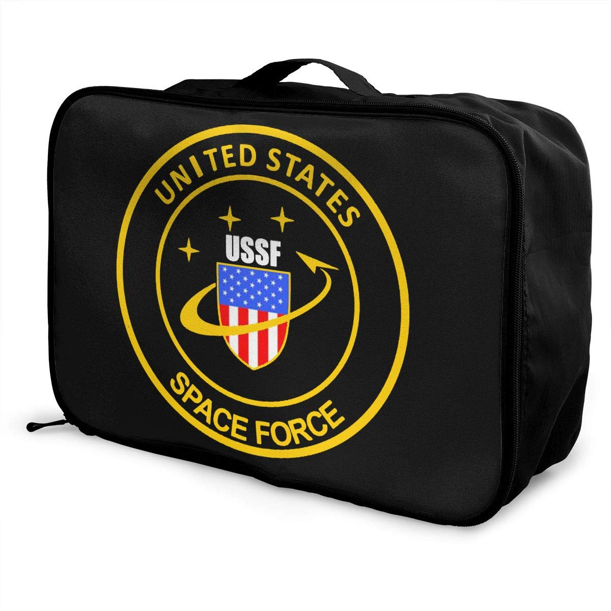 United States Space Force USSF Travel Bag Men Women 3D Print Pattern Gift Portable Waterproof Oxford Cloth Luggage Bag