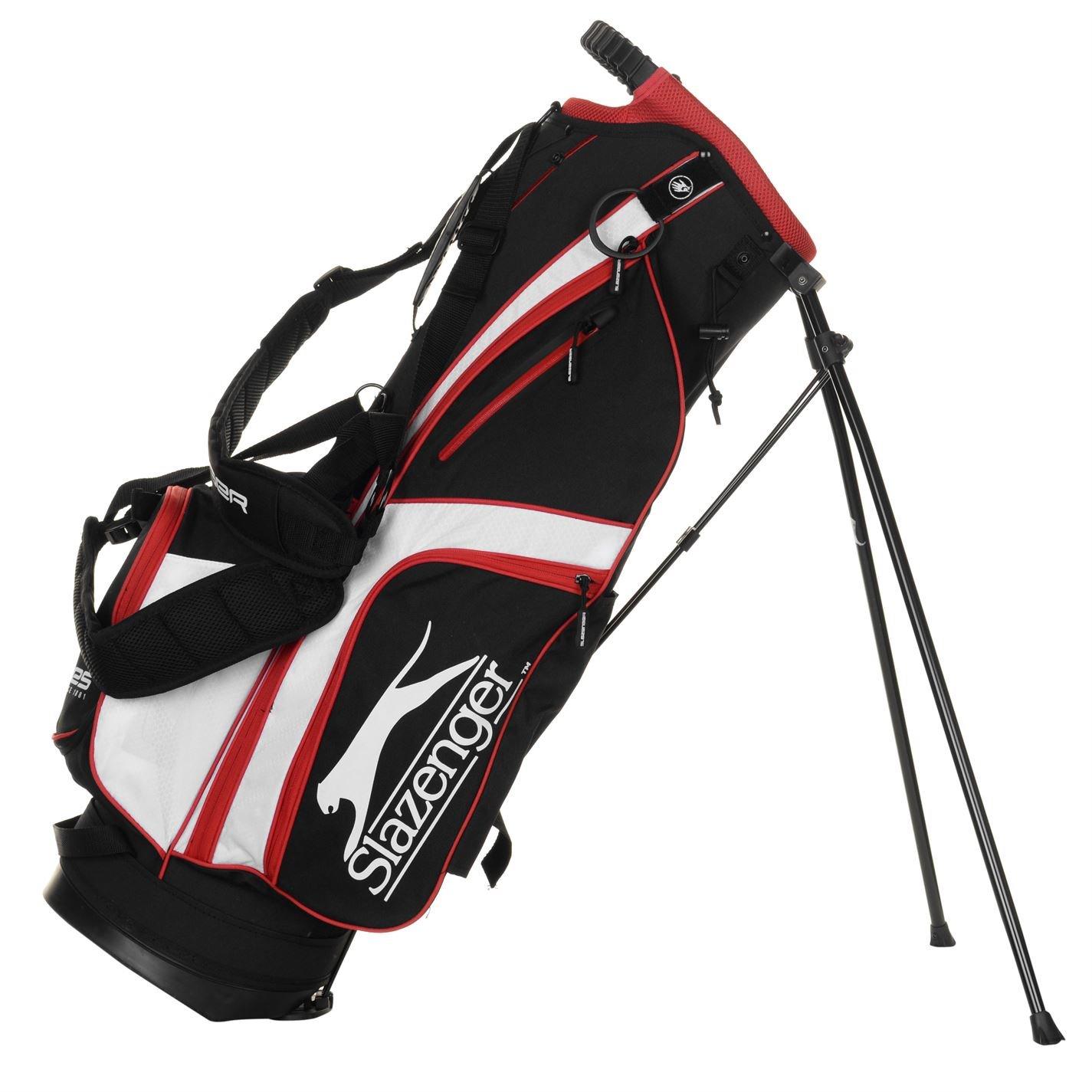 Slazenger Unisex Lite Bolsa de palos de golf Negro/Blanco ...