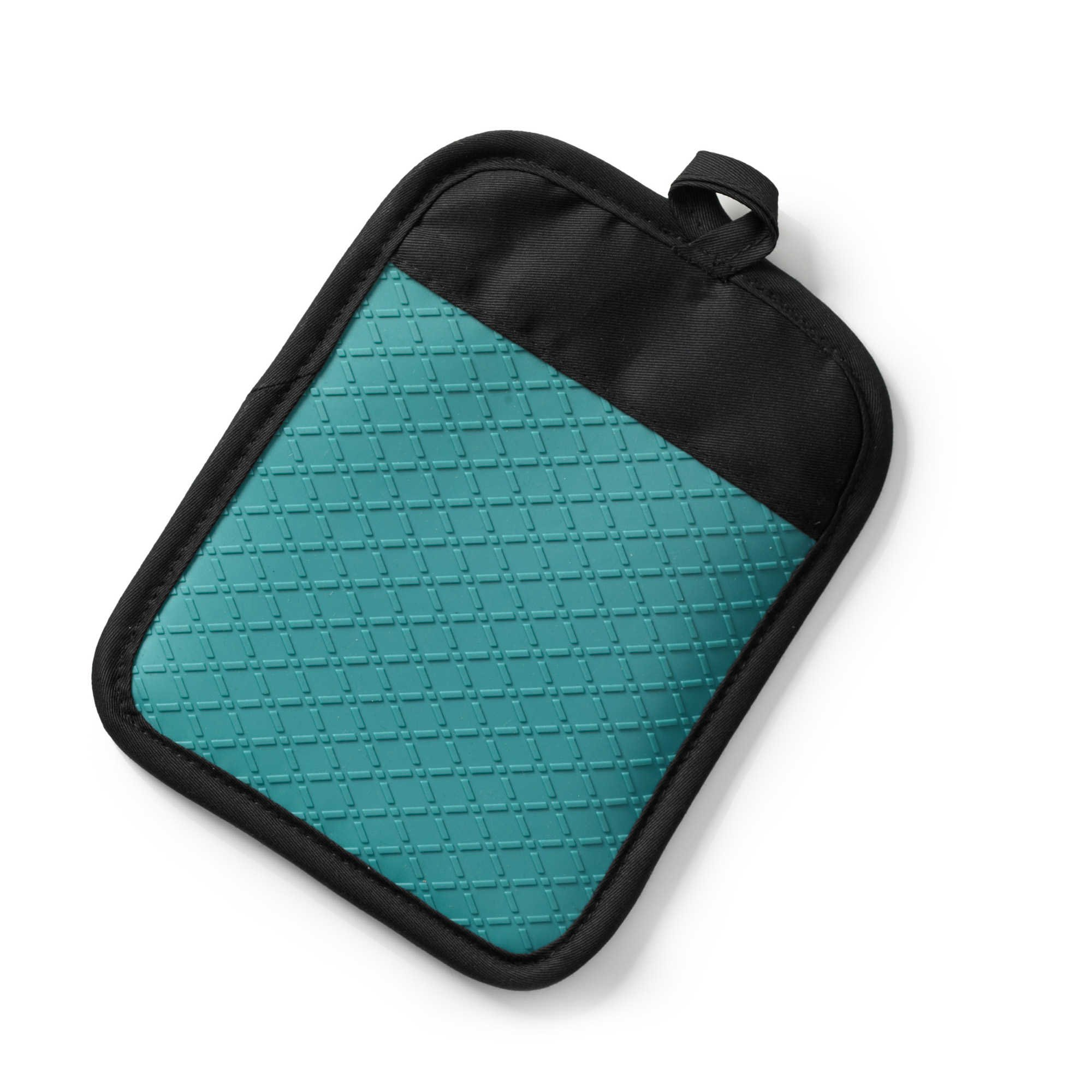 Pot Holder. Silicone Quilted Crafted from 100% Silicone Lining and Safe to use up to 500 degrees Fahrenheit Pack of 2,(Blue) by Generic