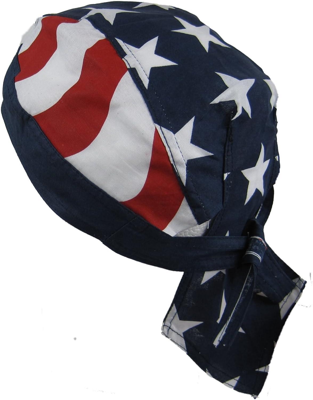Bandana pañuelo para la cabeza pre atada USA barras y estrellas de la bandera: Amazon.es: Deportes y aire libre