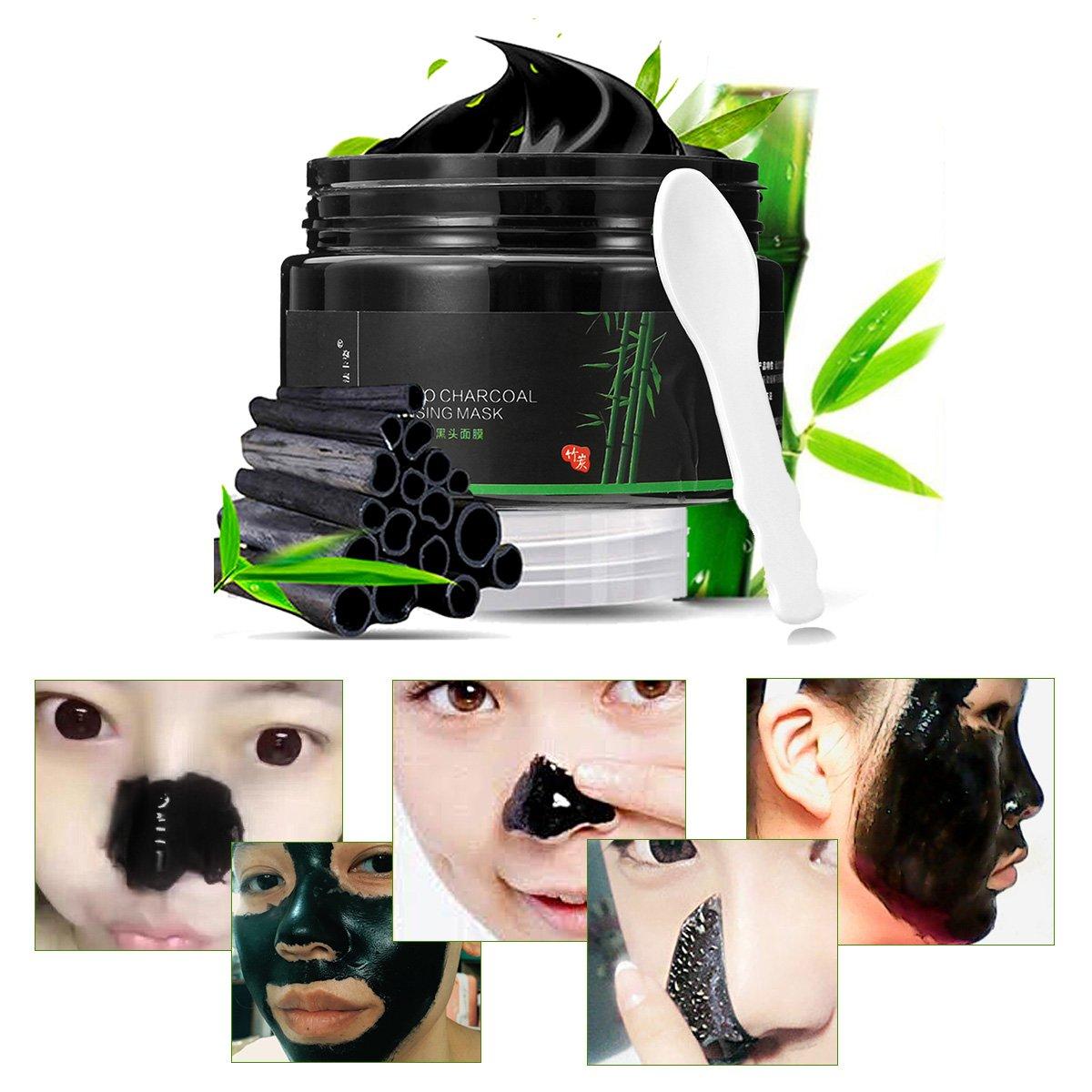 Facciale Cura, LuckyFine, Blackhead Mask per Cura Viso Maschera Di Cotone Di Bambù Per Punti Neri Anti Acne Peel off Maschera Nera Pulizia Profonda Rimozione Di Comedone