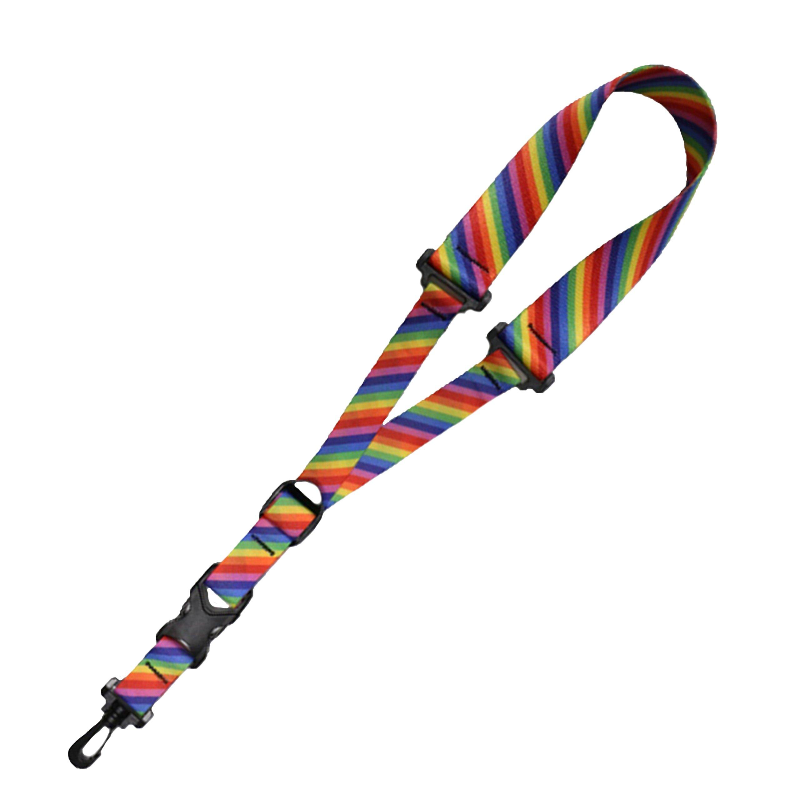Killer-Q Saxophone Strap - Stylish Quick Release, Adjustable Sax Neck Straps, Made in USA – Rainbow Stripe Design