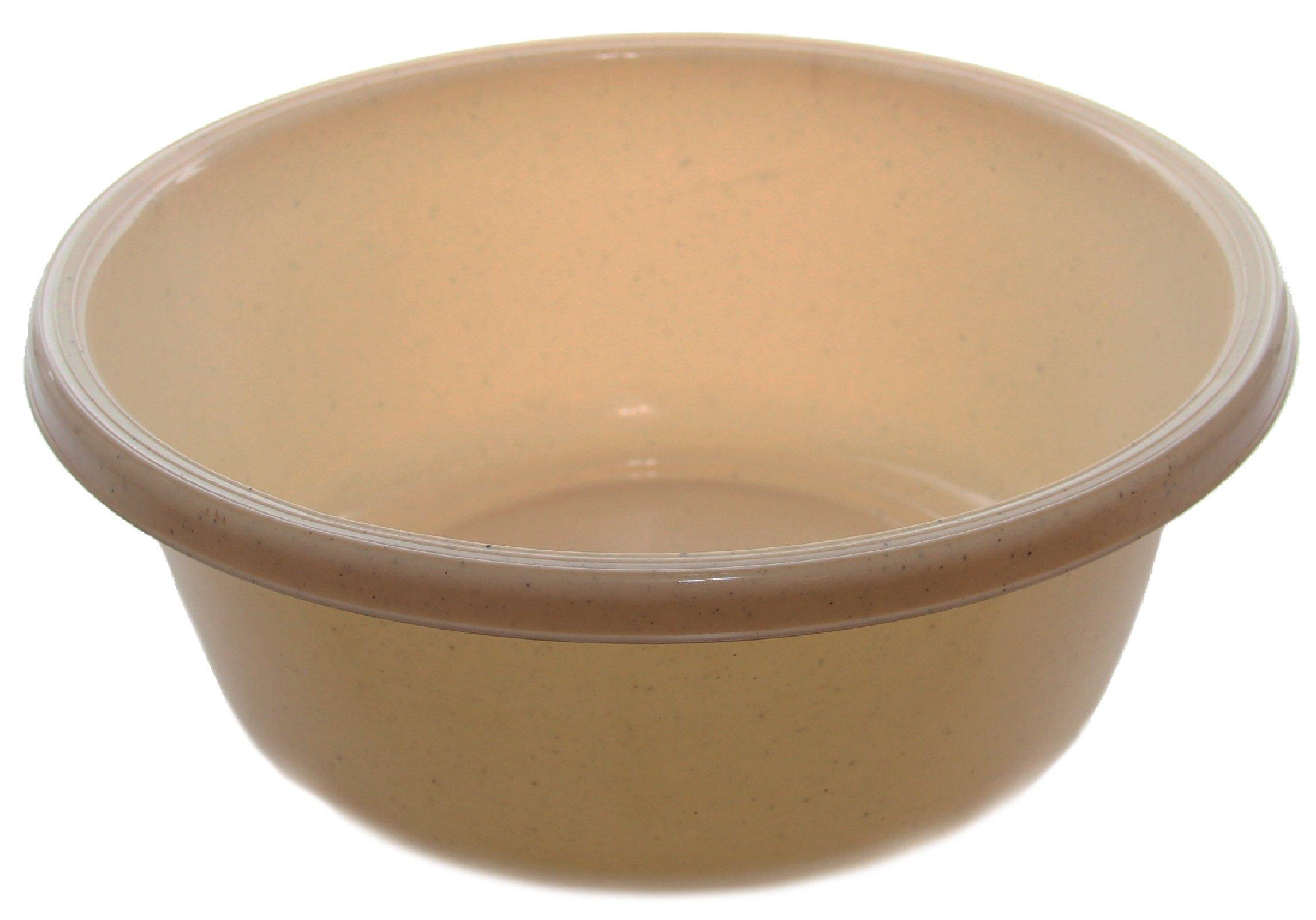 Ybm Home Round Plastic Wash Basin 1148 (2, Beige with Dots)