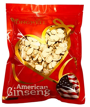 Hand-Selected A Grade American Ginseng Slice Medium Slice 1 Lb. Gift Bag
