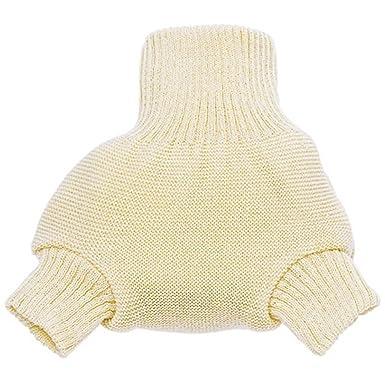 Baby Bloomers 6 Months Disana Organic Merino Wool Cover-Natural-62/68 (3-6 mo)