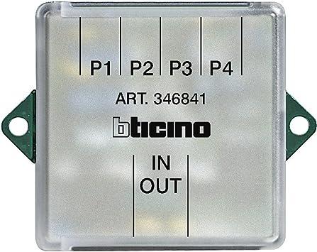Derivador planta 4 salidas videoportero Bticino sistema 2 hilos